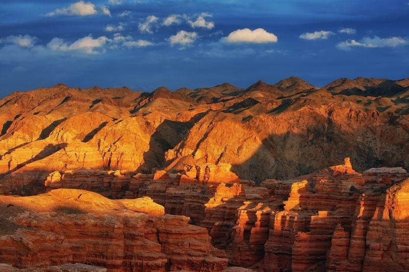 Чарынский каньон на закате / Казахстанphoto preview