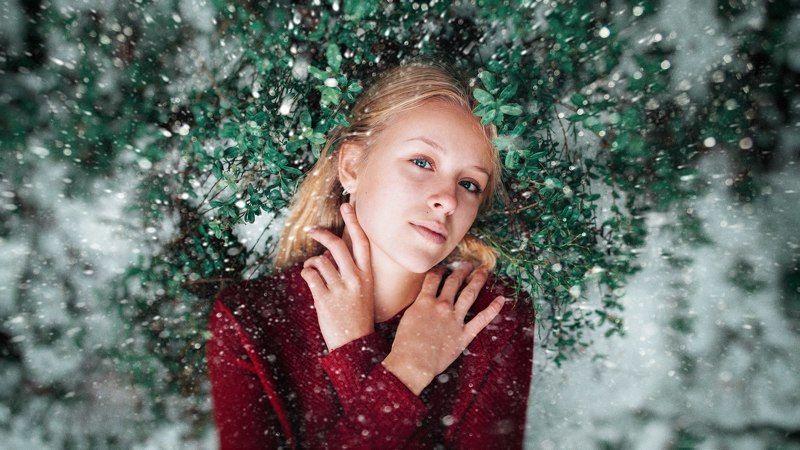 art,девушка ,снег,girl Настяphoto preview