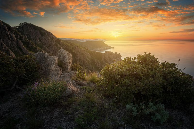 приморский край, море, солнце, рассвет, море, побережье Приморские мотивыphoto preview