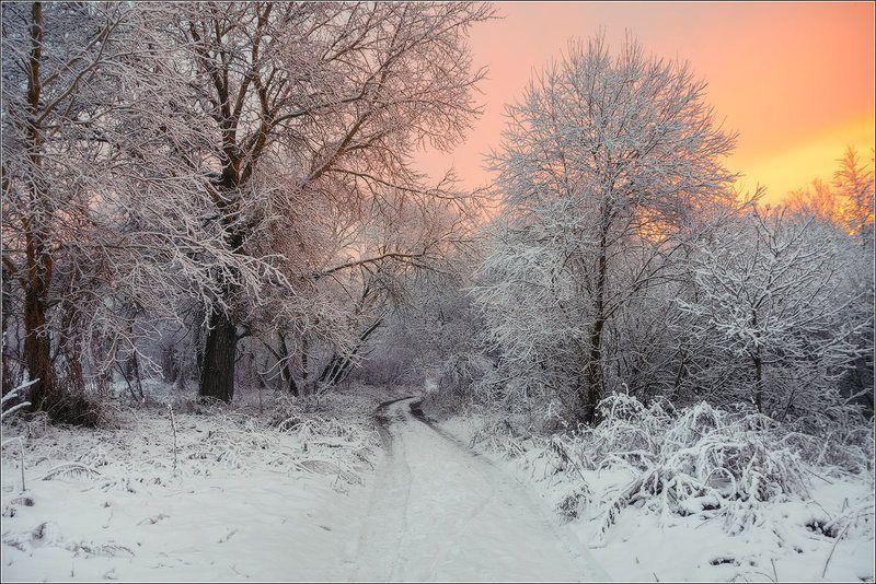 зима, закат, верхнедвинск, беларусь ***photo preview