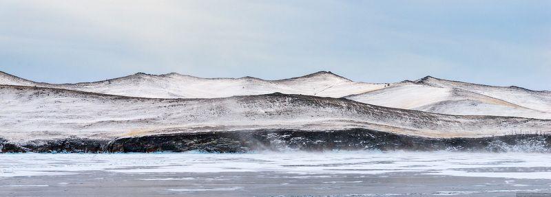 Байкал, Ольхон, остров, зима, снег, пейзаж Ольхонphoto preview