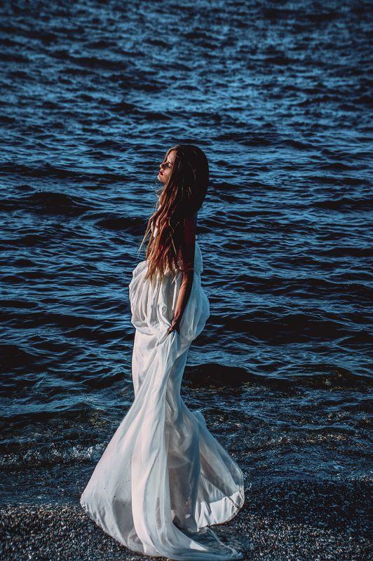 girl dress portrait crimea sea water  Swallowedphoto preview