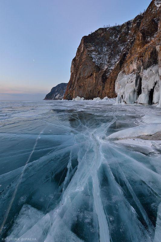 байкал, пейзаж, зима, лёд Разломphoto preview