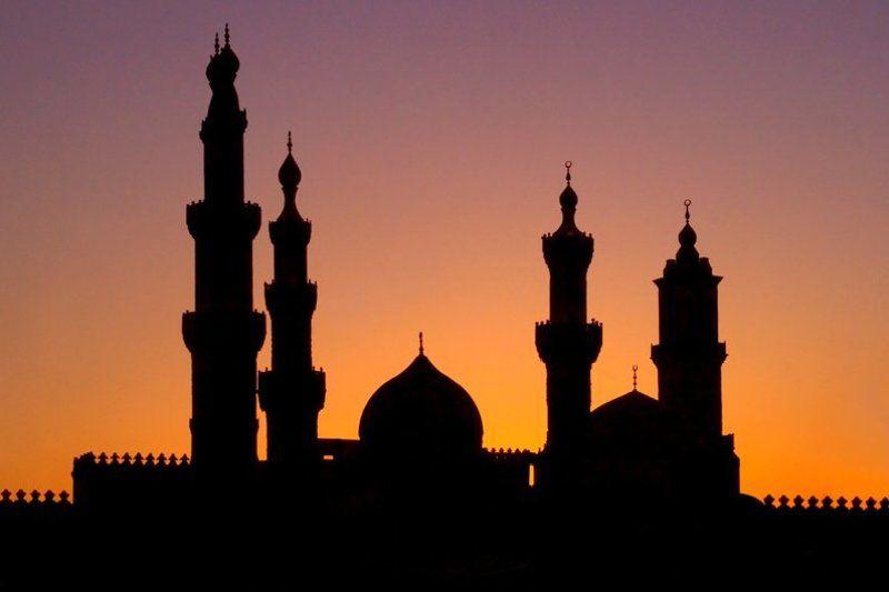 каир, закат, вечер, мечеть Погружаясь в сон.photo preview
