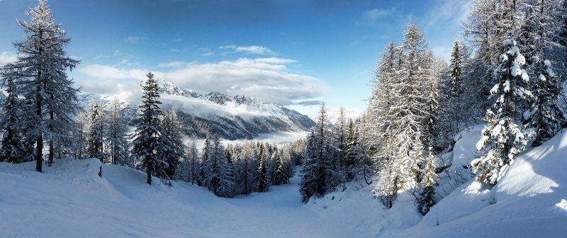 горы, небо, облака, дорога Дорога в облакаphoto preview