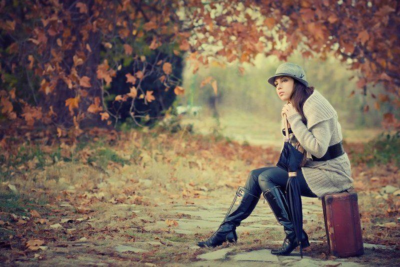 beauty, portrait, woman, autumn Irinaphoto preview