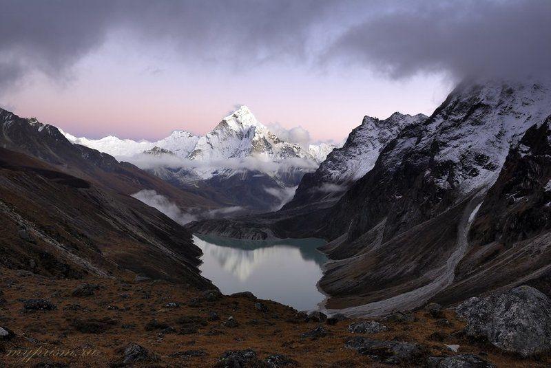 гималаи, непал, горы, ама, даблам Ама Даблам после закатаphoto preview