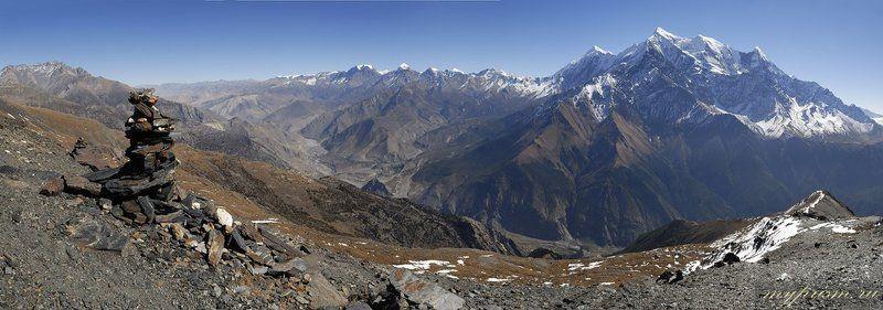 горы, гималаи, непал, нилгири, кали, гандаки Гора Нилгири и долина Кали Гандакиphoto preview