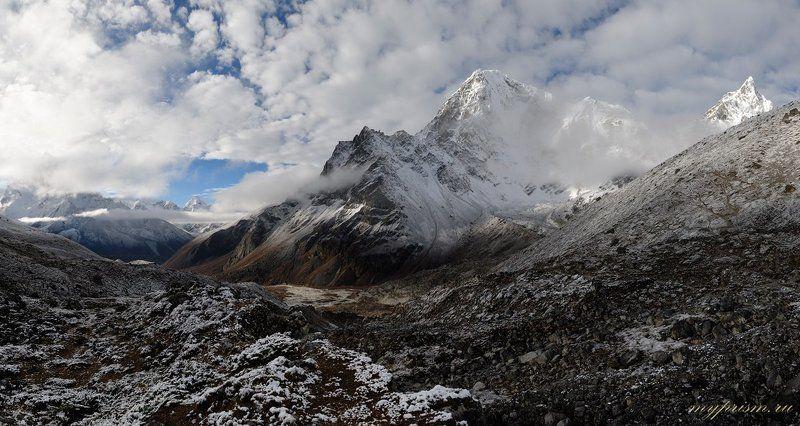 гималаи, непал, горы В Гималаяхphoto preview