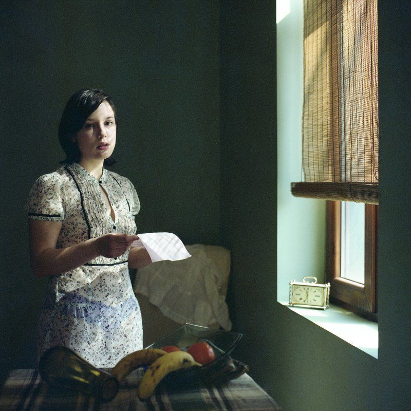 girl reading a letterphoto preview