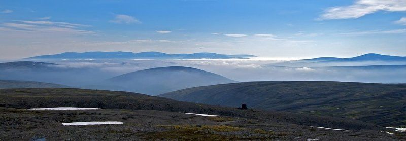 хибины Острова в облачном мореphoto preview