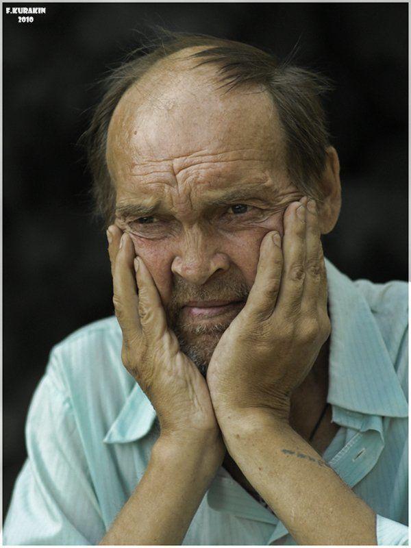 мужчина, портрет, лица, люди, жанровый портрет Непоследнее в его жизни горе...photo preview