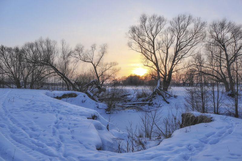 зима,пейзаж.закат, Последние зимние закаты.photo preview