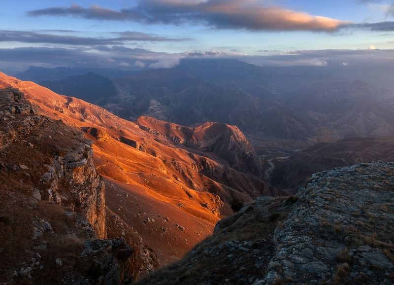 Вид с Хунзахского плато, Дагестанphoto preview
