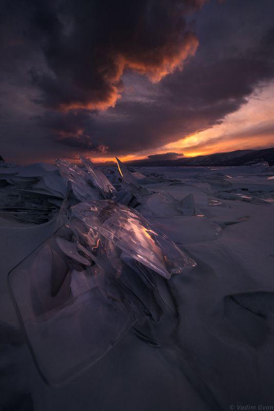 байкал, лед, закат Лед и пламяphoto preview