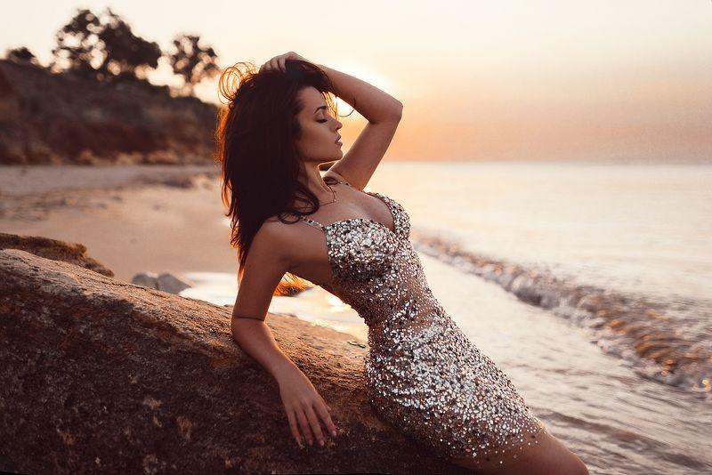 девушка, рассвет, море, лето, одесса, красота, солнце, арт, портрет, fotorad Викторияphoto preview