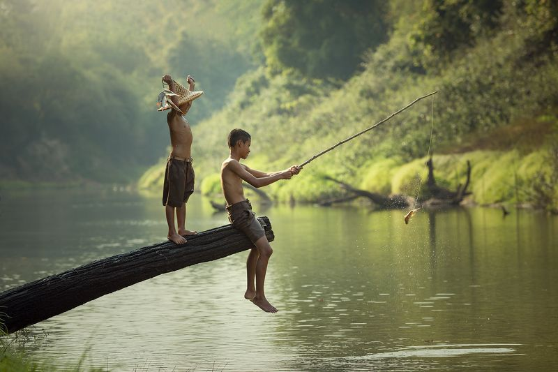 children,boy,people,happy,hope,thailand Fisherman photo preview