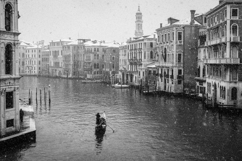 Italy, Venice, BW, cityscape, Venicephoto preview