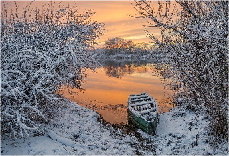 река,зима, закат, беларусь ***photo preview