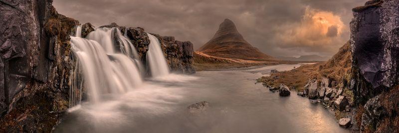 iceland, исландия Kirkjufellfossphoto preview