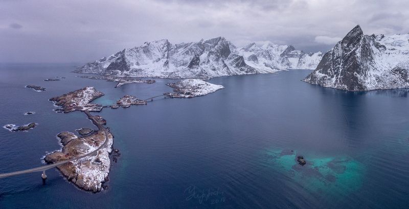 lofoten, reine, norway, sakrisoy, hamnoy, olstinden Reinefjorden. Norway.photo preview