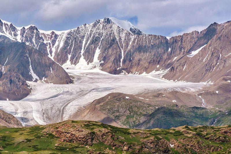 ледник, лето, горы, алтай, джело, glacier, summer, mountains, altai Ледник Джелоphoto preview