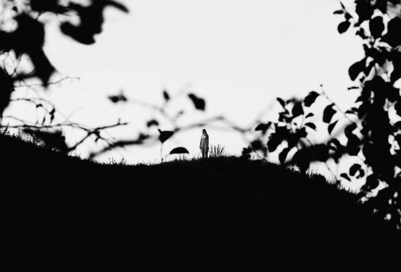 black&white,черно-белое, потрет, пейзаж, девушка, Lightroom, nature nothing else matters photo preview