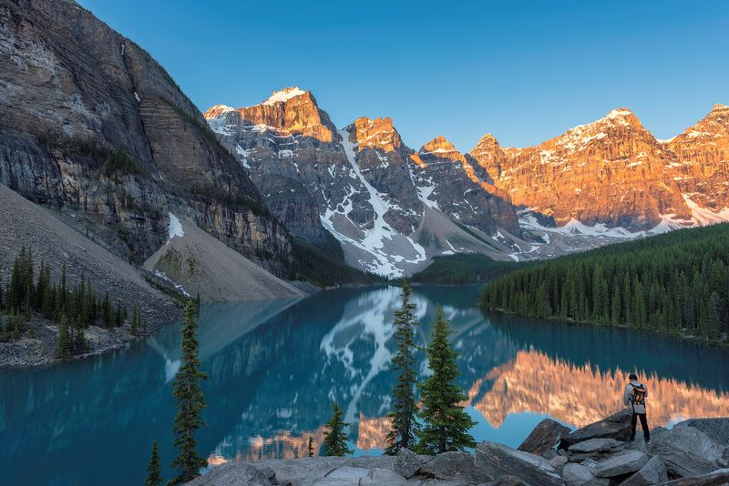 canada, banff, national, park , lake, nature, louise, moraine, landscape, scenery, mountain, canadian rockies, rocky mountains, summer, reflection Canadian Rockiesphoto preview