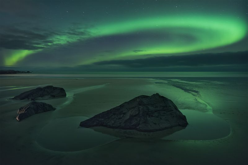 аврора, северное сияние, норвегия, ночное фото, пейзажное фото, пейзаж Северный светphoto preview