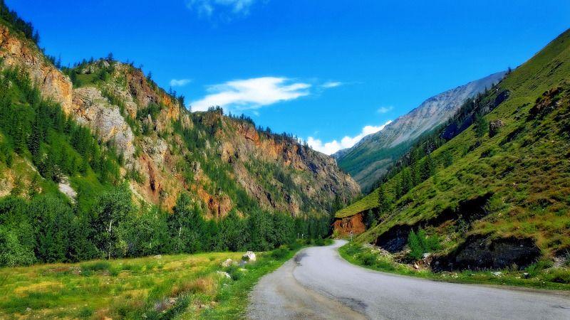горы, лето, Горный Алтай  По ущелью-2 photo preview