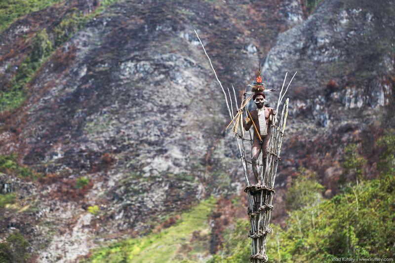 papua, dani, dani_tribe, danitribe, baliemvalley, baliem_valley, wamena, indonesia, warrior, папуа, дани, воин, сторожеваябашня, башня, индонезия, вамена, долинабалием Сторожевая башняphoto preview