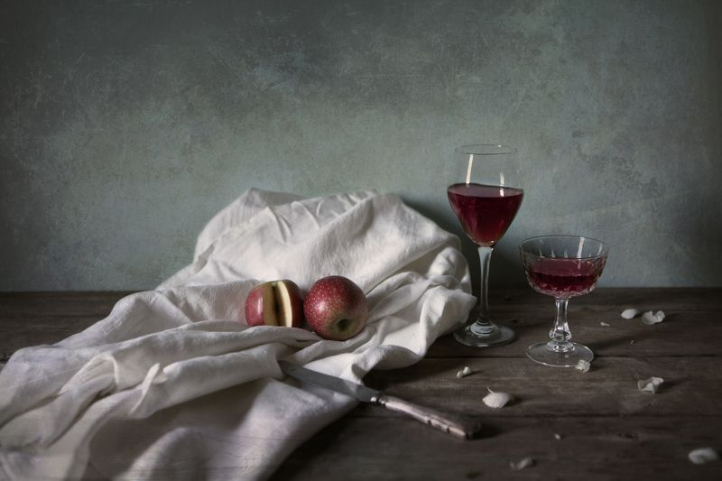 Still life with Wine and Applesphoto preview
