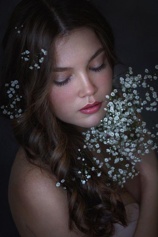 девушка, цветы, крупный план, губы, красивая, молодая, люди, кэнон, girl, flowers, close up, lips, beautiful, young, people, Canon ***photo preview