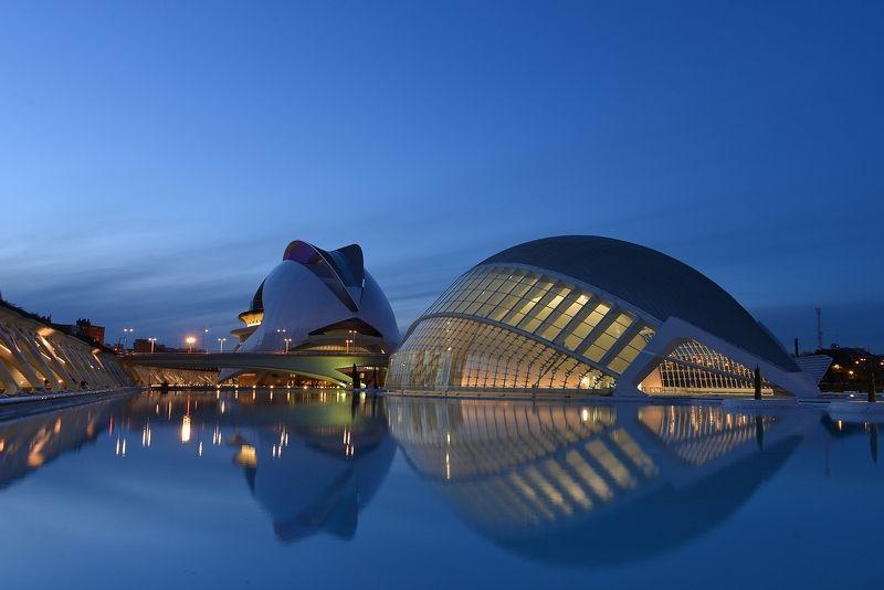 Вечер в Валенсии (город искусств и науки архитектора Калатравы)photo preview