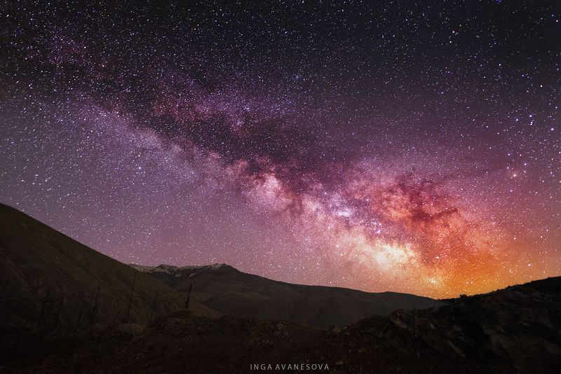 млечный путь. армения. photo preview