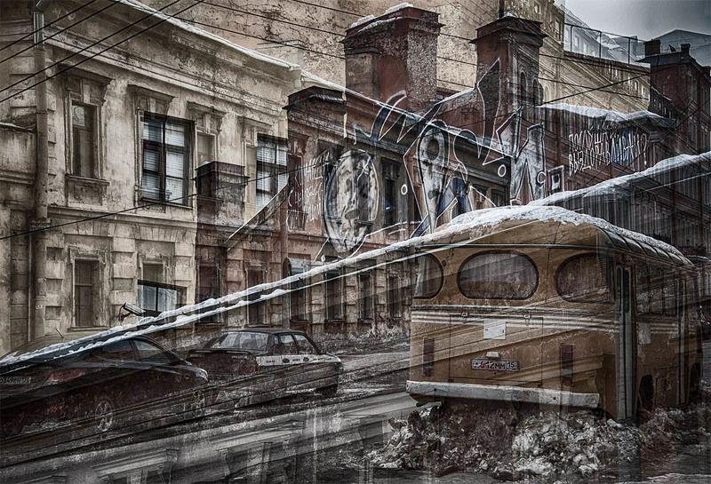 санкт-петербург, почтамская улица, стены, граффити, автобус Ты выздаравливайphoto preview
