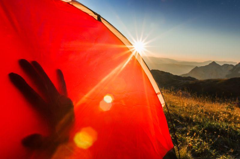 montenegro, bioc, гора, кемпинг, палатка, рука, тень, утро, восход, природа, на улице, путешествия, туризм,montenegro, bioc, mountain, camping, tent, hand, shadow, morning, sunrise, nature, outdoor, travel, hiking,  wake up, Good morningphoto preview