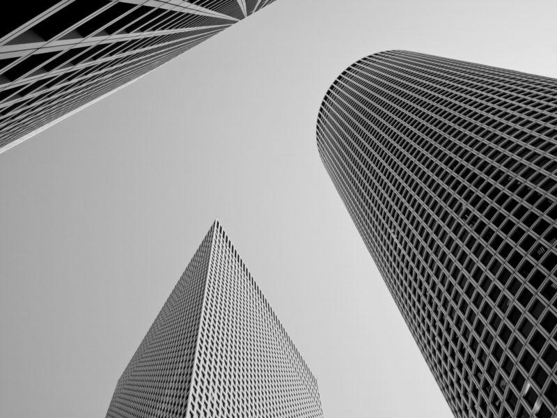 Black and white, Conceptual, Architecture, Monochrome, Israel, Tel-Aviv, City Three forms collaborationphoto preview
