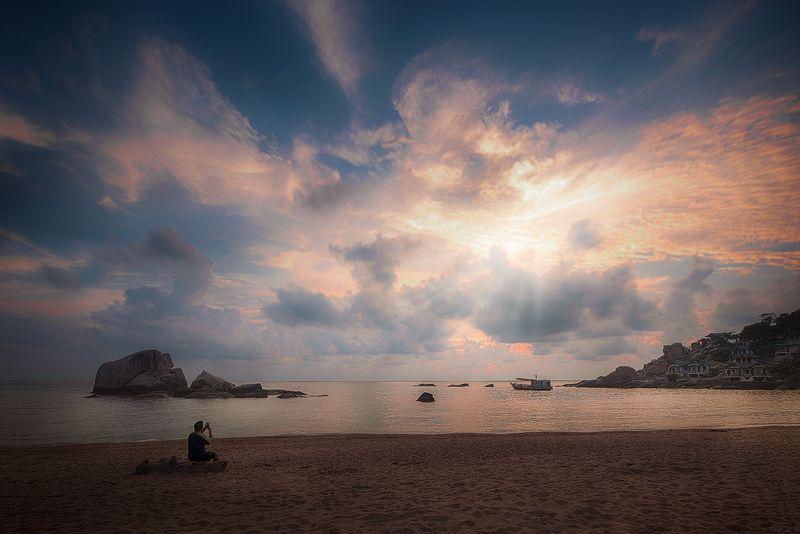 пейзаж,путешествия,восход,трэвел,морской,таиланд,остров,ко,тао, Наблюдение за восходом солнца.photo preview