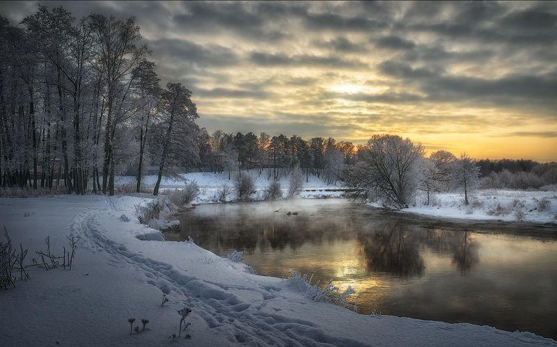 зима река пехорка Зимняя сказкаphoto preview