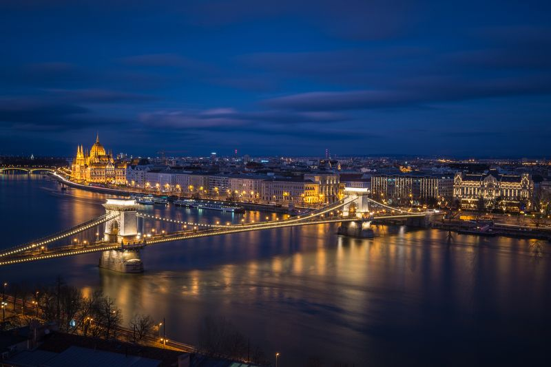 цепной мост. парламент. будапешт. 2017 Ночной Будапешт. Парламентphoto preview