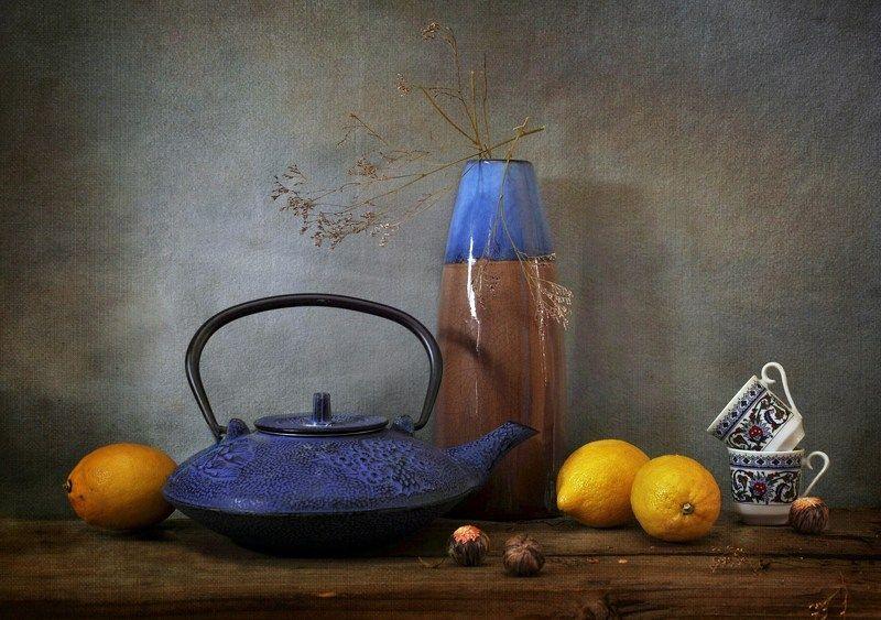 чай  лимоны чайник посуда Чай с лимономphoto preview