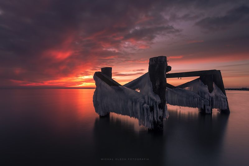 balticsea, poland, sea, winter, ice, snow, dawn, dusk, sunset, sunrise Couplephoto preview