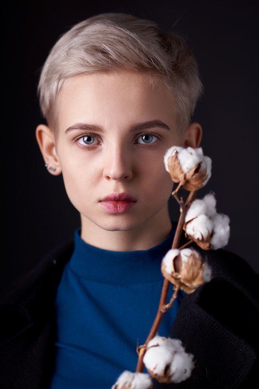 хлопок, девушка, портрет, girl, blue-eyes, girl, portrait, cotton Дашаphoto preview