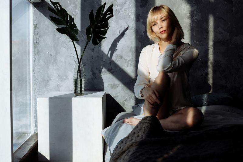 sun, girl, morning, light, shadow, beauty, art, blonde Alexandraphoto preview