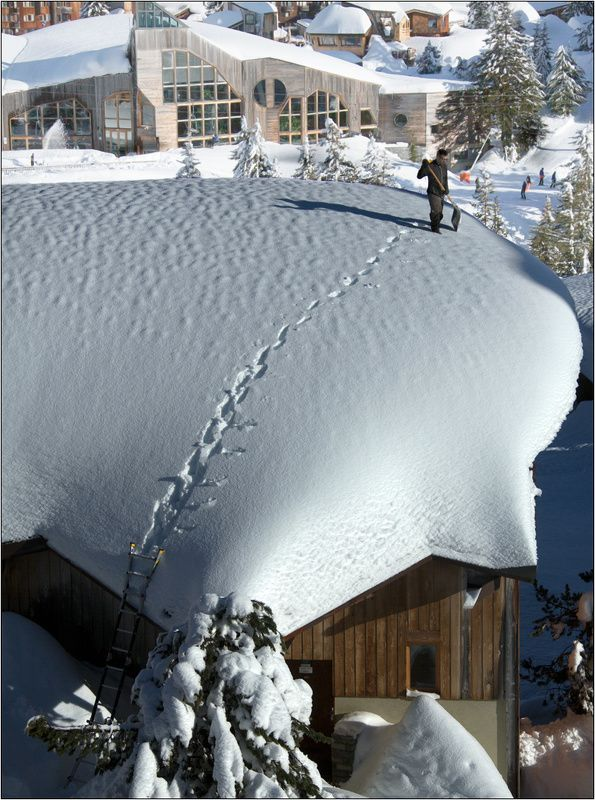 авориаз, франция, горы, снег, крыша, avoriaz Оптимистphoto preview