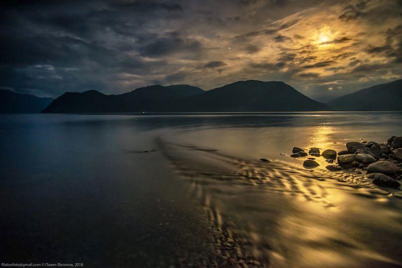 алтай, сибирь, телецкое озеро, ночь, луна, яйлю, чеченек Лунные узоры Чеченекаphoto preview