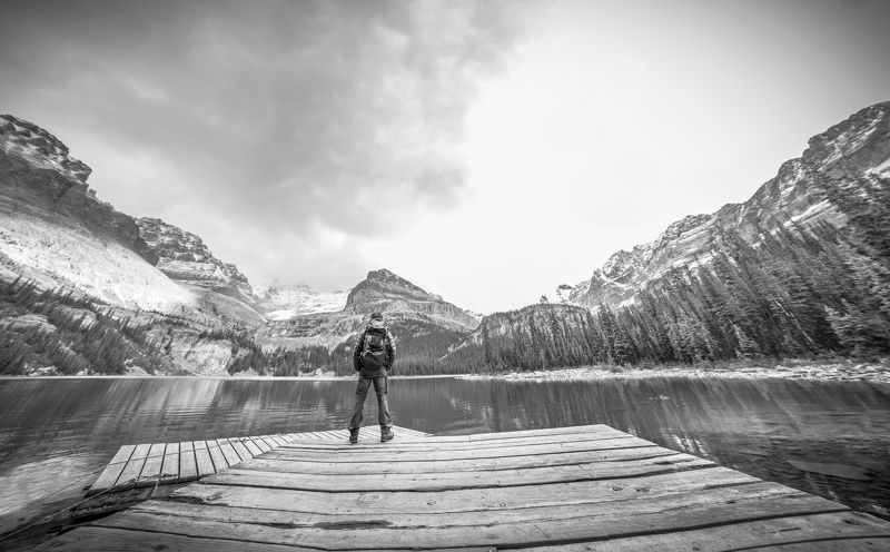 канада, озеро о\\\'хара, британская колумбия, йохо, национальный парк, черно-белый, без цвета, альпинизм, природа, путешествия, на улице, bc,canada, lake o\\\'hara, british columbia, yoho, national park, black and white, no color, backpacking, nature, travel, It\'s about standpointphoto preview