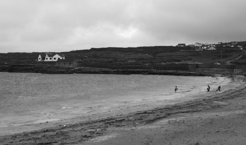 Inishmore, Ireland, Island, Black and white, Monochrome, Atlantic, Ocean  Abandonedphoto preview