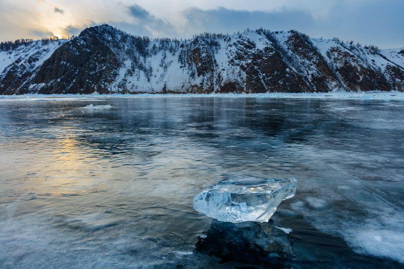 байкал, сибирь, зима, лед, лёд, россия, ольхон, пейзаж, путешествия Байкальский лёдphoto preview